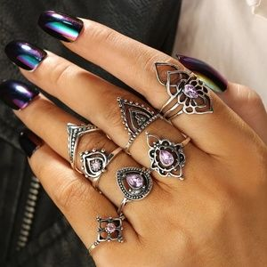 🍁4/$25-All Jewelry 🍁 7pc. Boho Ring Set
